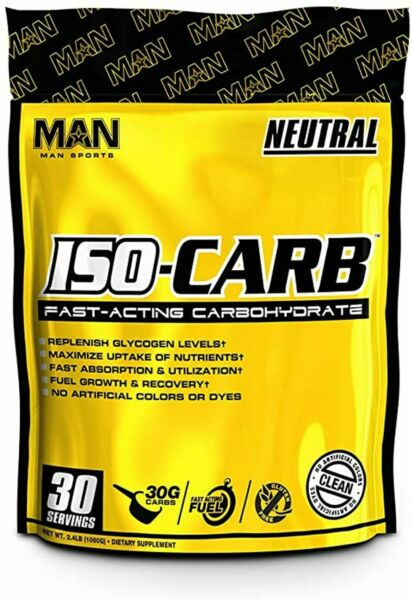 MAN Sports ISO CARB Fast Acting Carbohydrate 2.2 Lbs 30 Srv 30g Carbs $18.48