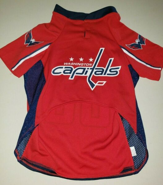 PETS FIRST DOG MALE JERSEY red white blue SIZE XL WASHINGTON CAPITALS EAGLE NEW $5.52