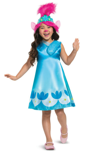 Poppy Classic Child Costume Girls Toddler NEW Trolls World Tour