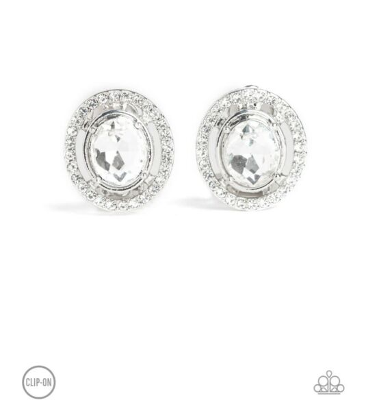 Paparazzi Clip On Earrings Cost A Fortune White  $5.00