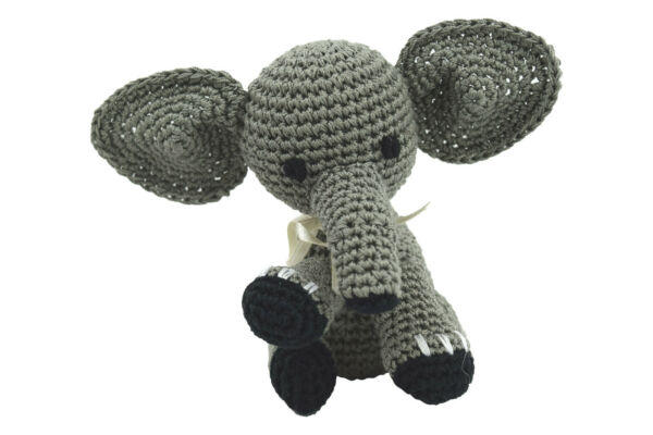 Dog Teeth Cleaning Cotton Crochet Squeaky Dog Toy for Small Dogs Elephant $16.20