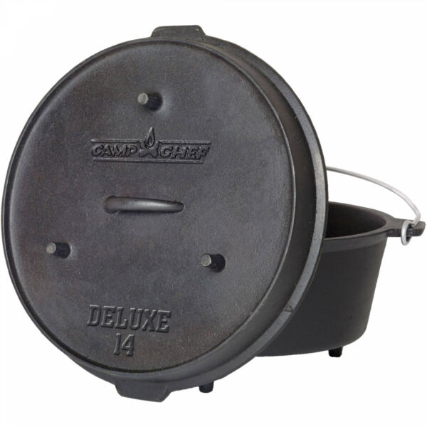 12 Quart Cast Iron Dutch Oven Pre Seasoned Kitchen Cookware Cooking Pot with Lid