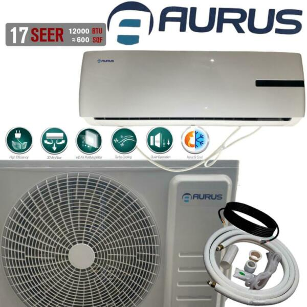 12000 BTU Ductless MINI Split Air Conditioner with Heat Pump 115V 17 SEER White $460.00