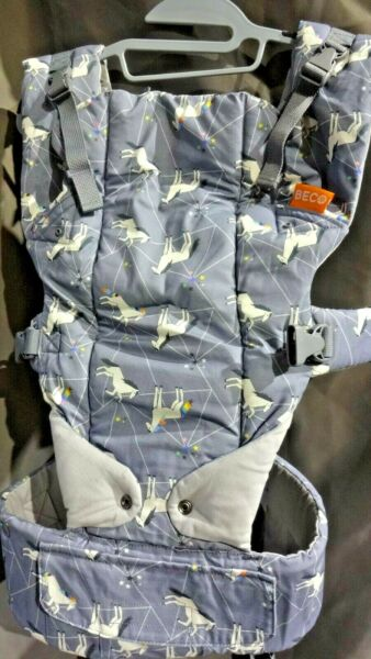 Beco Gemini Baby Carrier 4 in 1 Backpack Style Cotton 7 35lbs Unicorn Magic $55.00