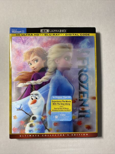 Frozen 2 4k Ultra HD Blu ray Digital HD Lenticular Slipcover $9.98