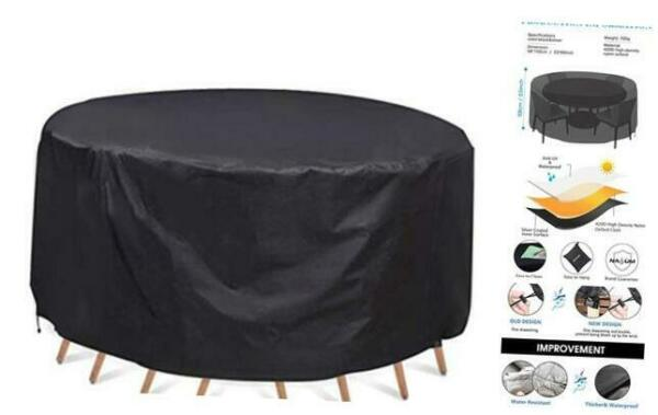 Patio Furniture Covers Waterproof Round Patio Table amp; Chair Set Cover 60 x 23 $34.01