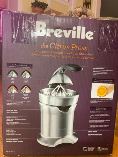 Breville Citrus Press 800CPXL 110W Stainless Steel excellent condition