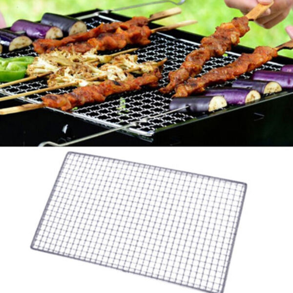 Stainless Steel BBQ Grill Grate Grid Wire Mesh Rack Cooking Replacement Net.