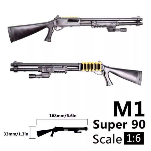 1 6 Scale M1 Shotgun Rifle Gun Weapon Military For 12quot; Action Figure Soldier UK
