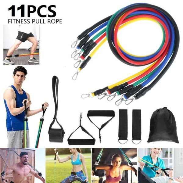 11Pcs Resistance Bands For Home Workout Exercise Crossfit Fitness Training Gyms $13.99