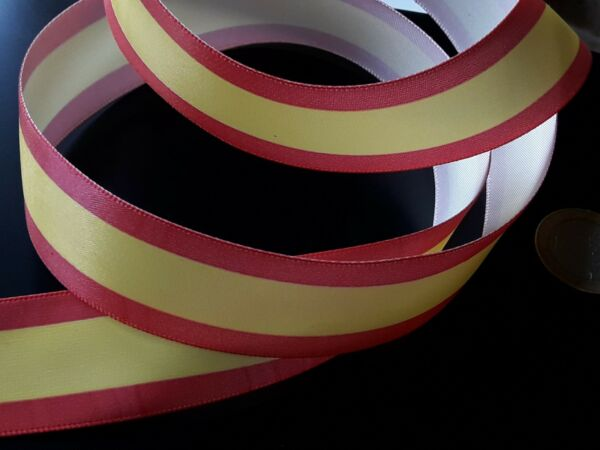 1 To 328 1 12ft Band Fabric Ribbon Flag Spain Spanish 0 31 32in CINTA 07 $2.61