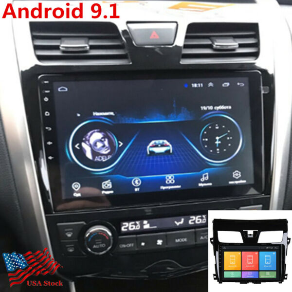 10.1quot; Android 9.1 Car Radio GPS Quad Core Navigation FM For 13 15 Nissan Altima $135.91