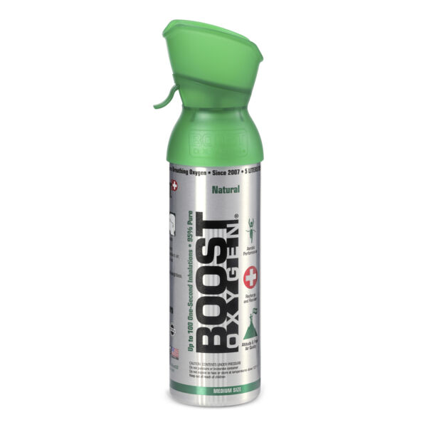 Boost Oxygen Natural Portable 5 Liter Pure Canned Oxygen Canister Flavorless $9.49