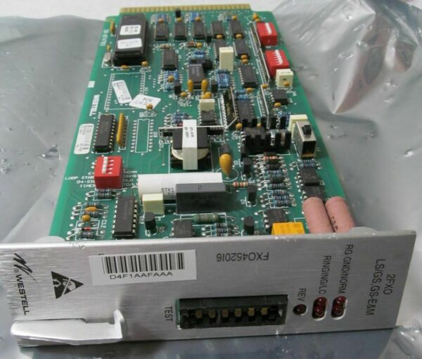 WESTELL 4520I6 2FXO D4 CHANNEL UNIT 2FXO LS GS GS Eamp;M