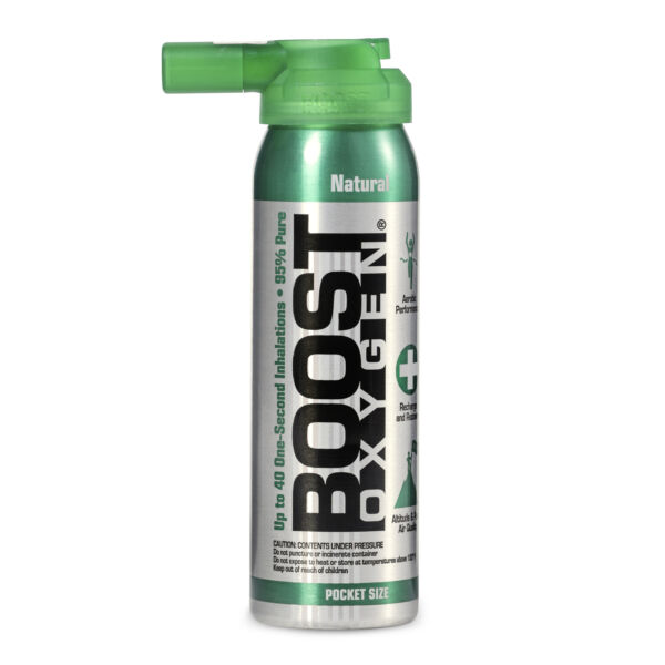 Boost Oxygen Natural Portable 2 Liter Pure Canned Oxygen Canister Flavorless $6.99