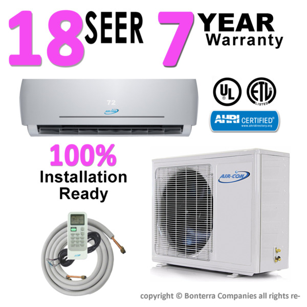 18000 BTU Air Conditioner Mini Split INVERTER AC Ductless Heat Pump 18 Seer 220V $888.89