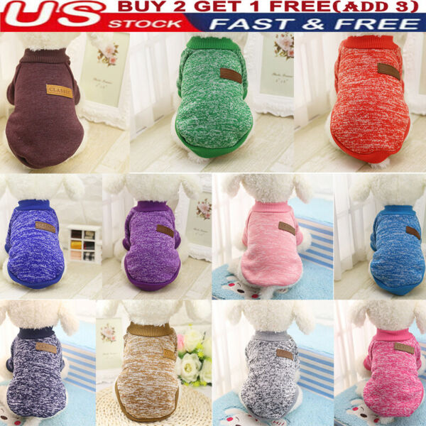 Pet Dog Cat Warm Fleece Vest Clothes Coats Shirt Puppy Sweater Winter Apparel #x27; $4.99
