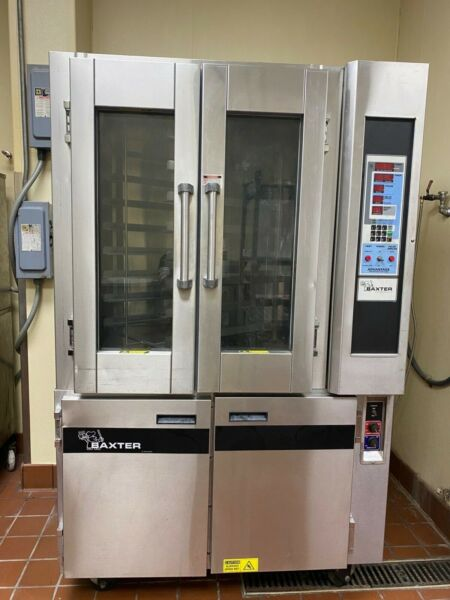 Baxter Electric rotating mini rack oven OV300E with proofing base 480V $5500.00