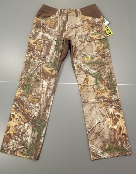 Under Armour Pants Scent Control Hunting Camo Realtree Xtra 36X34 36 34 Men#x27;s UA