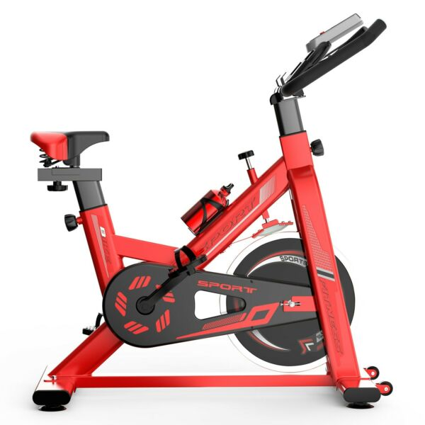 Stationary Bike Fitness Cycling Exercise Bicycle Cardio Workout w LCD Home Gym $206.99