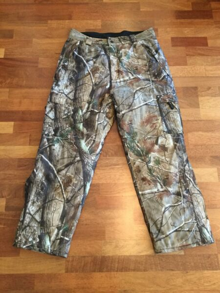 REAL TREE Trail Tech Fleece Lined Insulated Hunting Camo Pants Mens Xl