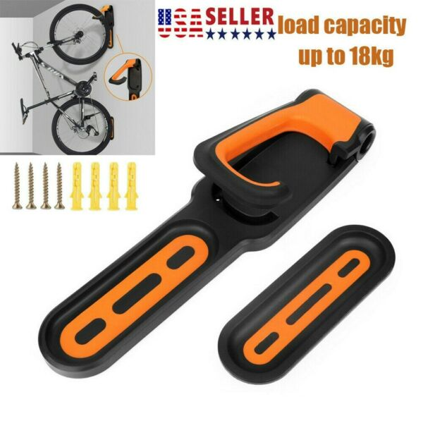 Bike Wall Mount Storage Holder Metal Hook MTB Bicycle Cycling Pedal Hanger Stand $14.91