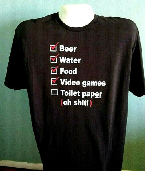PANDEMIC CHECKLIST T SHIRT FUNNY FOR GOT THE TOILET PAPER OH SH T BEER $9.99
