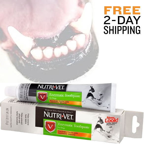 Enzymatic Toothpaste for Dogs Non Foaming Puppy Dog Teeth Plaque Cleaner Chicken $4.76