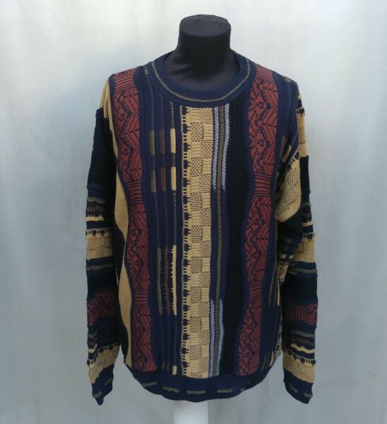 Vintage Protege Crew Neck Pullover Sweater 3D Cosby Biggie Coogi Style Size XXL $60.00