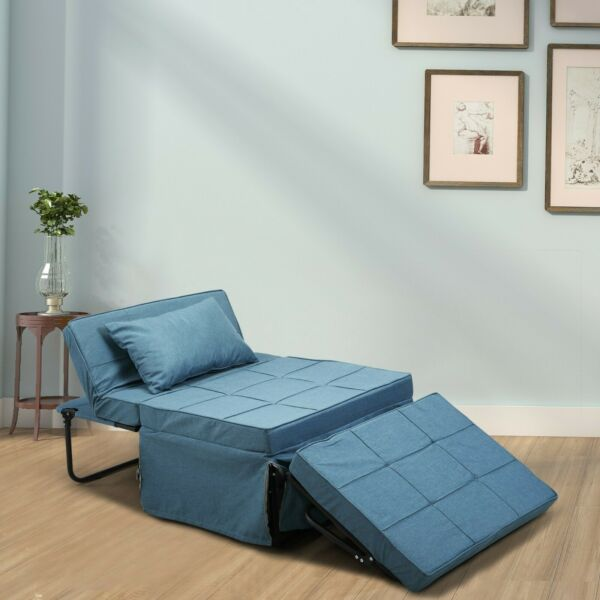Convertible Sofa Bed 4 in 1 Multi Function Folding Ottoman Bench Adjustable