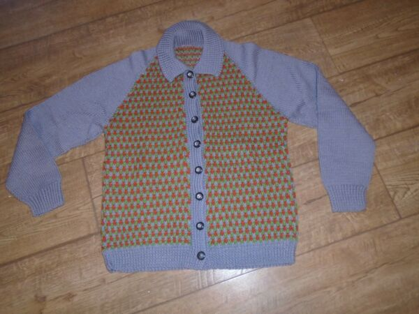 Vintage Retro New Hand Knitted Cardigan 34quot; 36quot; Chest Cost £3 17 6 Then GBP 29.99