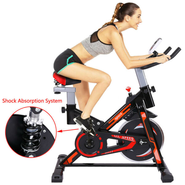 Cycling Bike Exercise Stationary Bike W phone Mount Cardio Workout Home Indoor C $157.46