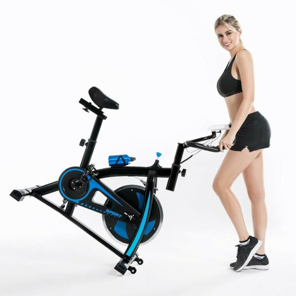 Cycling Bike Exercise Stationary Bike W phone Mount Cardio Workout Home Indoor G $165.55