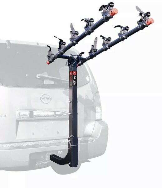 Allen Sports 5 Bike Hitch Mount Rack Black 2quot; Receiver Car Steel Deluxe Locking $179.99