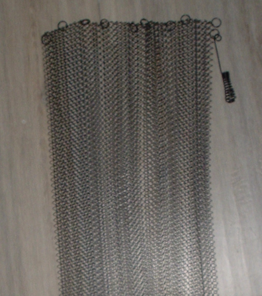 NEW REPLACEMENT SET of 2 *Fireplace MESH CURTAINS 34quot; H x 38quot; W Combined *NO box