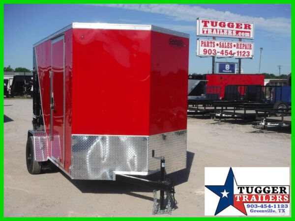 6X10 10Ft V Nose Box Work Tools Move Bike Travel Lawn Side Enclosed Trailer $3588.00