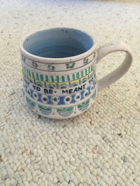 Anthropologie Molly Hatch Lexicon Mug quot;Meant to Bequot; Cup Flowers Coffee Tea NEW $39.99