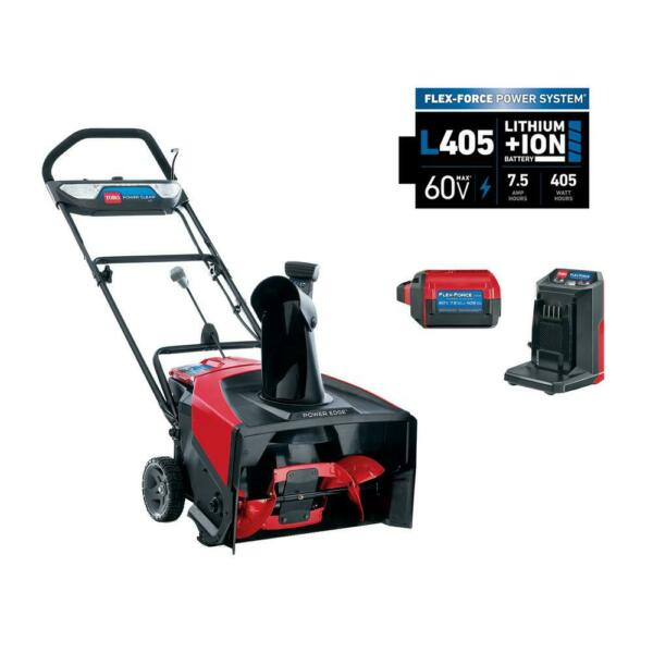 Power Clear 21 in. 60 Volt Lithium Ion Brushless Cordless Electric Snow Blower