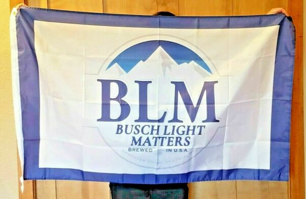 Busch Latte BLM Beer Flag Black lives matter Bud Budweiser Light Christmas gift