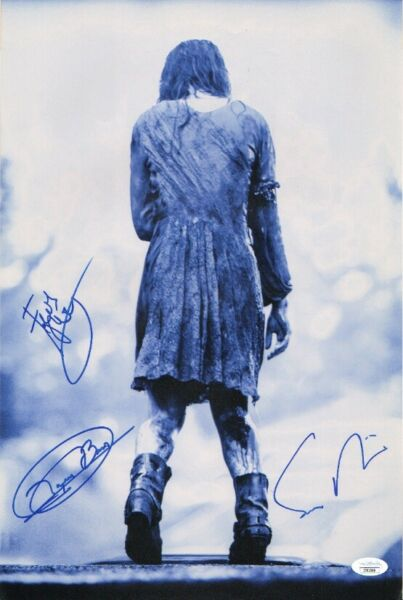 EVIL DEAD 2013 Cast x3 Authentic Hand Signed quot;SAM RAIMIquot; 11x17 photo JSA COA