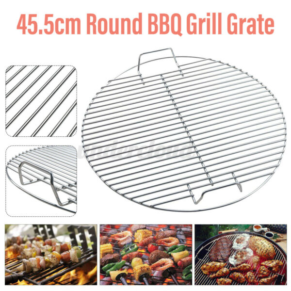 18quot; Round Steel Barbecue Net BBQ Charcoal Grill Grate Mesh Frame Replacement
