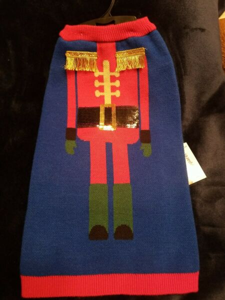 Christmas Holiday Nutcracker Sweater For Dog Fabdog Fab quot;Ugly Sweaterquot; Pet Large $9.50