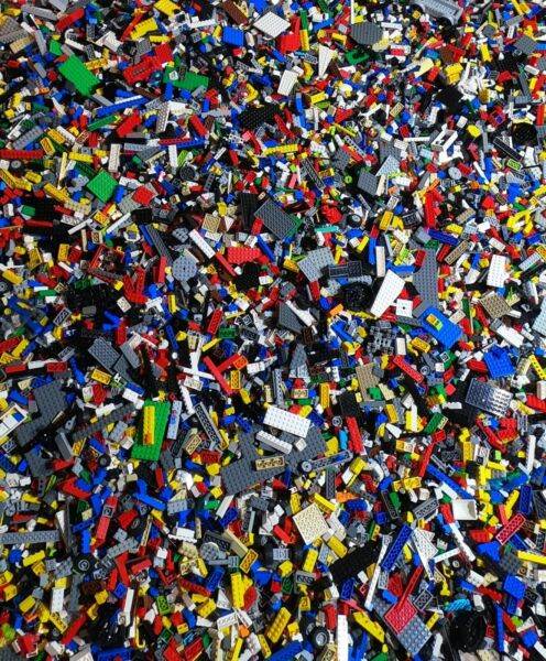 LEGO Bulk in 5 LB pound lots of GENUINE bricks plates pieces city town space