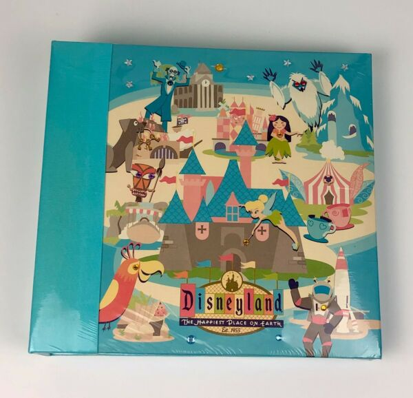 Disneyland 50th Anniversary Photo Album Book Retro style artwork 200 pics 2005 $39.20
