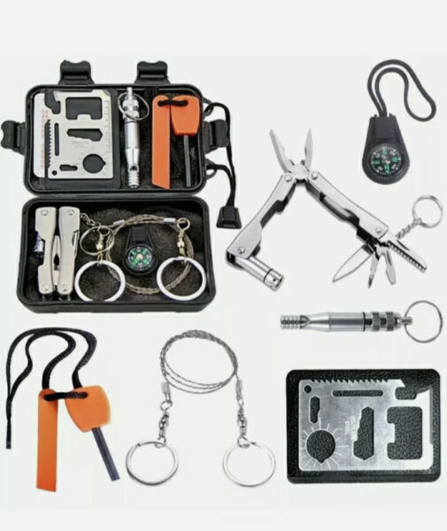 Survival kit for outdoor adventures camping hiking outdoor travelling emergency