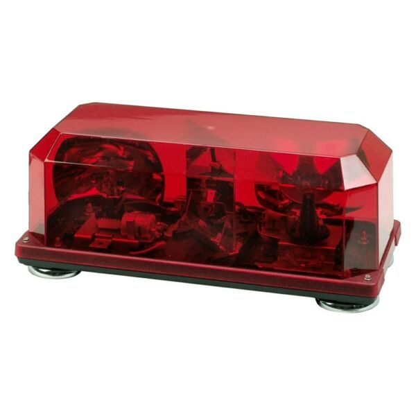 Wolo Priority 1 Magnetic Mount Mini Rotating Red Halogen Emergency Light Bar