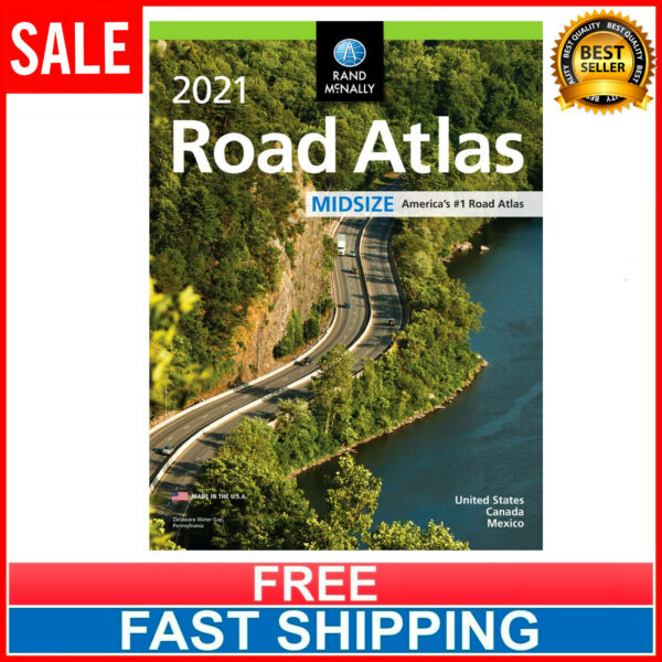 2021 USA Road Atlas Easy Finder Large Scale Travel Maps Paperback NEW