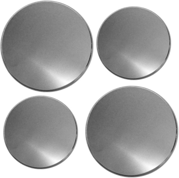 Round Burner Stove Electric Covers 4 Set Top Reston Lloyd Stainless Steel Look
