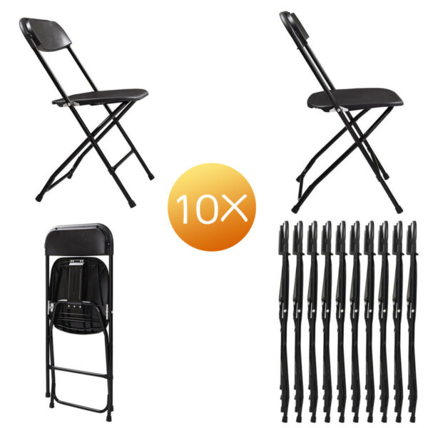 4 Pack 10 Pack Folding Plastic Chair for Home Office Wedding Party OutdoorIndoor