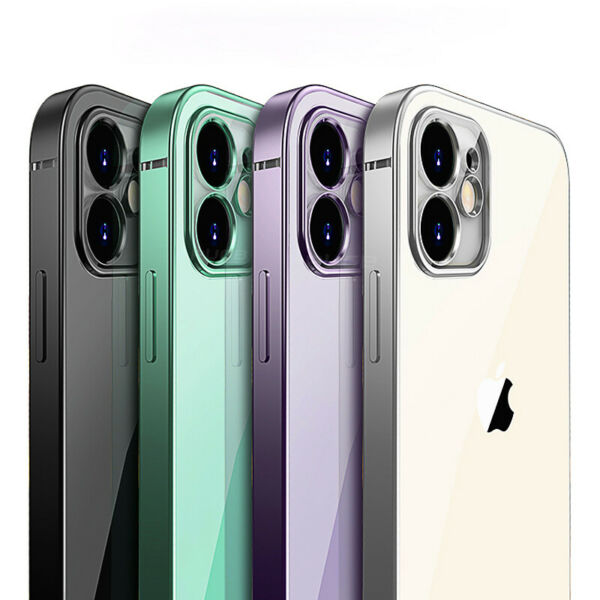 SHOCKPROOF Plating clear Case For iPhone 12 11 Pro MAX Mini XR XS 7 8 PLUS Cover